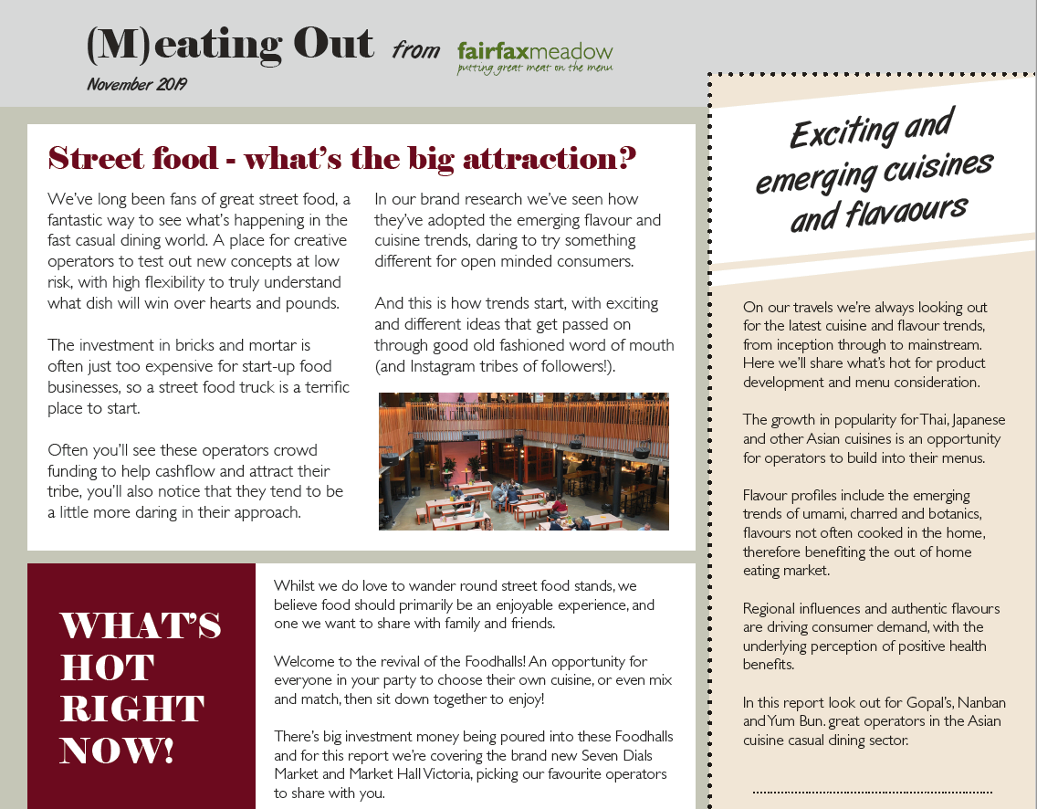 (M)eating Out - Let's talk Foodhalls